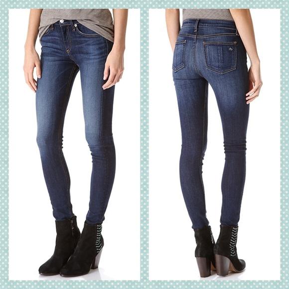 rag & bone Denim - rag & bone High Rise Skinny Jeans